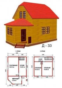 Монтаж индивидуальных домов.