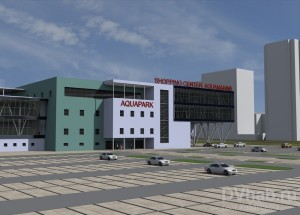 В Хабаровске строят торговый центр с аквапарком