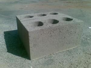 Блоки со сквозными пустотами.